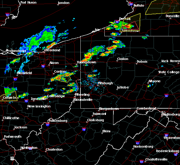 Radar Image for Severe Thunderstorms near Summitville, OH at 8/22/2017 12:47 PM EDT