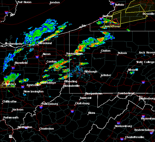 Radar Image for Severe Thunderstorms near East Rochester, OH at 8/22/2017 12:59 PM EDT