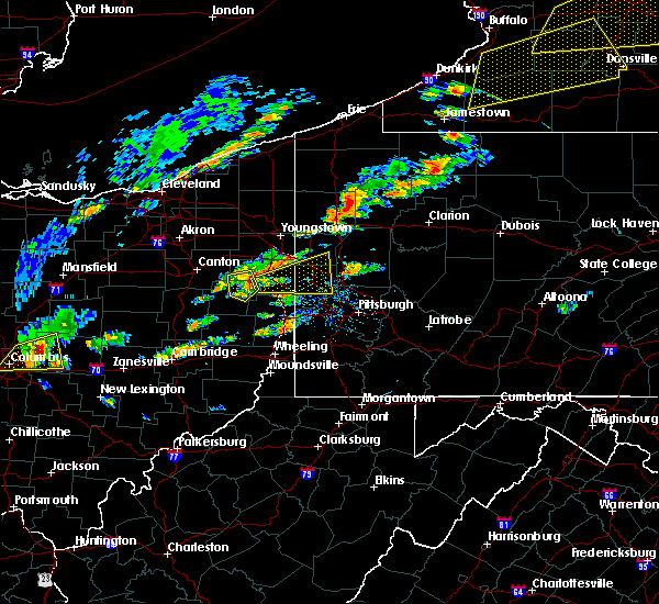 Radar Image for Severe Thunderstorms near Rogers, OH at 8/22/2017 1:05 PM EDT