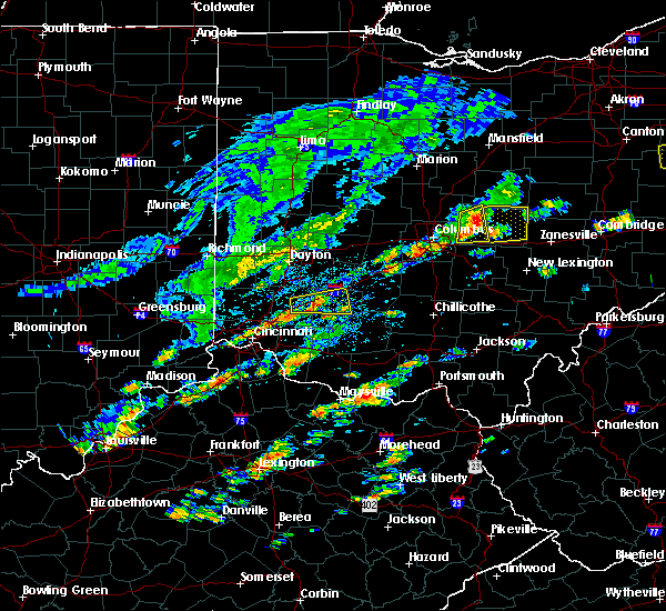 Radar Image for Severe Thunderstorms near Wilmington, OH at 8/22/2017 1:14 PM EDT