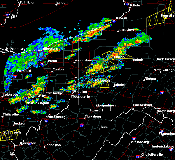 Radar Image for Severe Thunderstorms near Clairton, PA at 8/22/2017 2:03 PM EDT