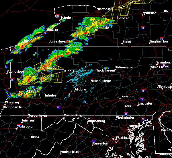 Radar Image for Severe Thunderstorms near Smicksburg, PA at 8/22/2017 2:06 PM EDT
