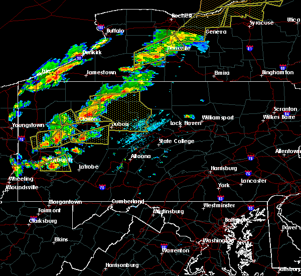 Radar Image for Severe Thunderstorms near Sandy, PA at 8/22/2017 2:13 PM EDT