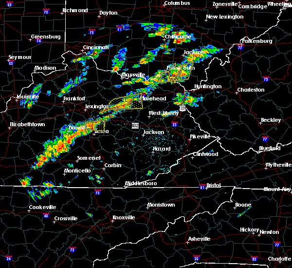 Radar Image for Severe Thunderstorms near Morehead, KY at 8/22/2017 2:23 PM EDT