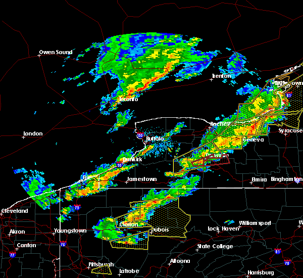 Radar Image for Severe Thunderstorms near Belfast, NY at 8/22/2017 2:25 PM EDT