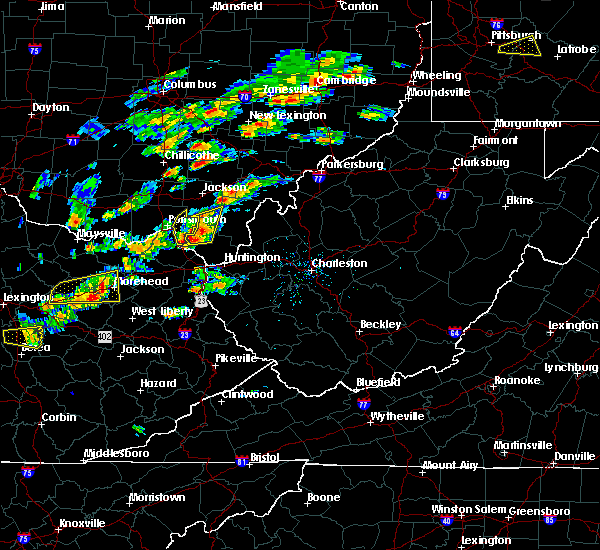 Radar Image for Severe Thunderstorms near Oak Hill, OH at 8/22/2017 2:28 PM EDT