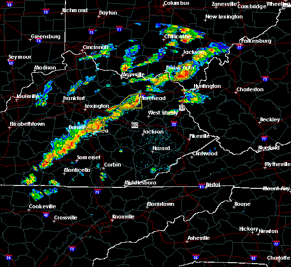 Radar Image for Severe Thunderstorms near Morehead, KY at 8/22/2017 2:35 PM EDT