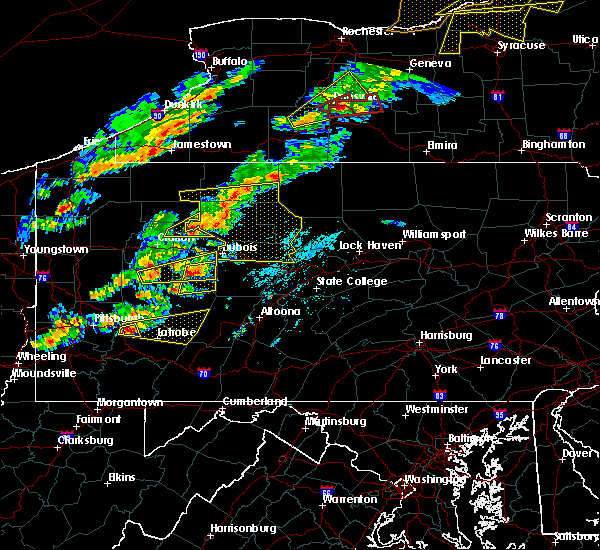 Radar Image for Severe Thunderstorms near Rossiter, PA at 8/22/2017 2:40 PM EDT