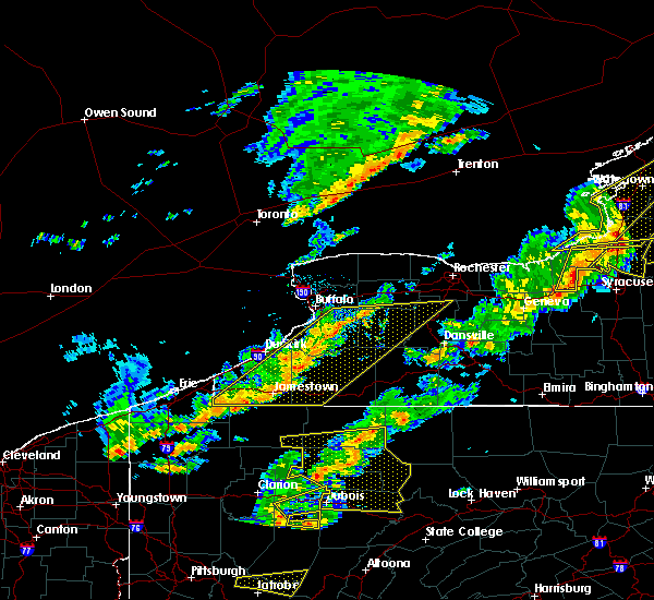 Radar Image for Severe Thunderstorms near Chautauqua, NY at 8/22/2017 2:53 PM EDT