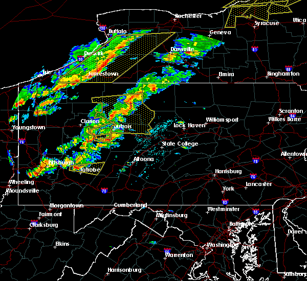 Radar Image for Severe Thunderstorms near Rossiter, PA at 8/22/2017 2:54 PM EDT