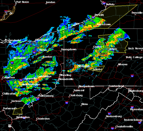 Radar Image for Severe Thunderstorms near Bolivar, PA at 8/22/2017 2:53 PM EDT