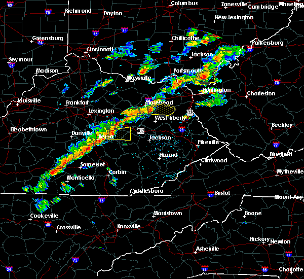 Radar Image for Severe Thunderstorms near Sandy Hook, KY at 8/22/2017 2:56 PM EDT