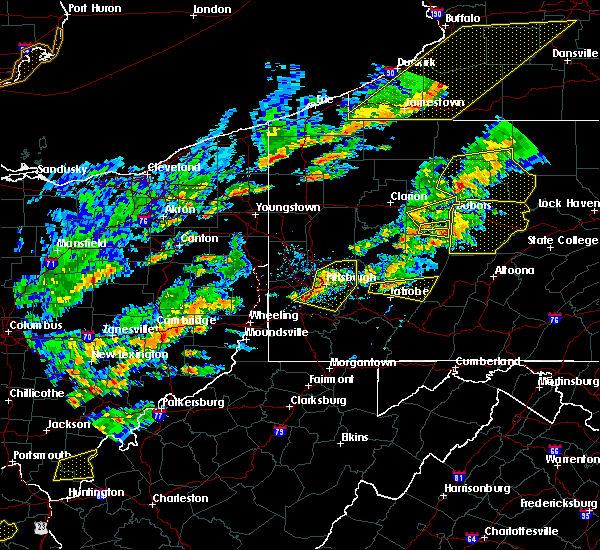 Radar Image for Severe Thunderstorms near Clairton, PA at 8/22/2017 2:57 PM EDT