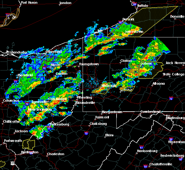 Radar Image for Severe Thunderstorms near Bolivar, PA at 8/22/2017 3:08 PM EDT