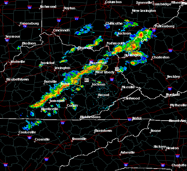 Radar Image for Severe Thunderstorms near Beattyville, KY at 8/22/2017 3:11 PM EDT