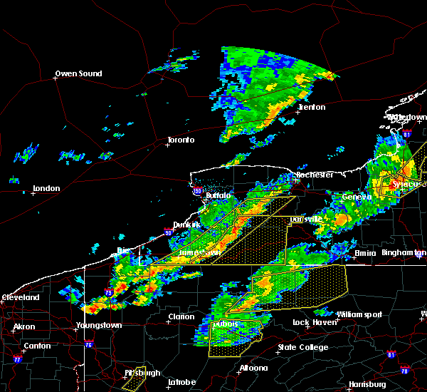Radar Image for Severe Thunderstorms near Belfast, NY at 8/22/2017 3:24 PM EDT