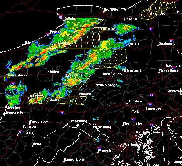 Radar Image for Severe Thunderstorms near Hollidaysburg, PA at 8/22/2017 3:30 PM EDT