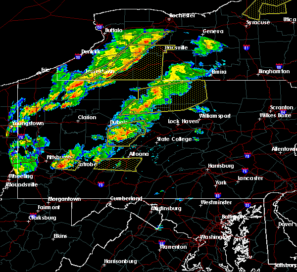 Radar Image for Severe Thunderstorms near Grassflat, PA at 8/22/2017 3:37 PM EDT