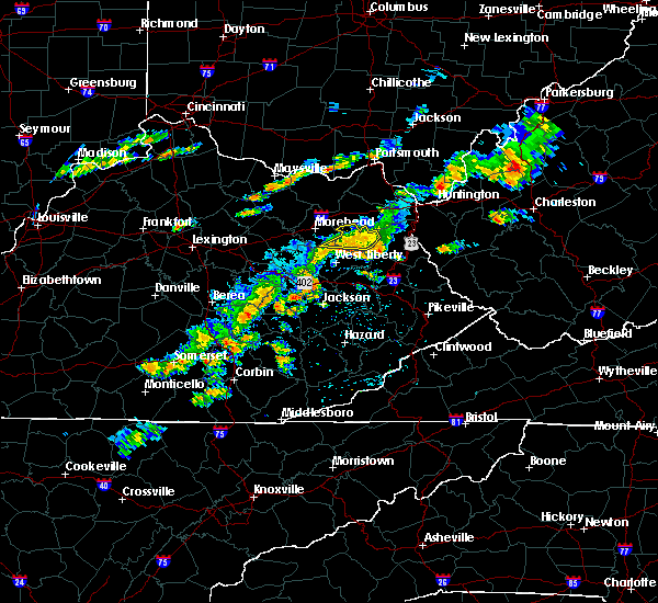 Radar Image for Severe Thunderstorms near Sandy Hook, KY at 8/22/2017 3:43 PM EDT