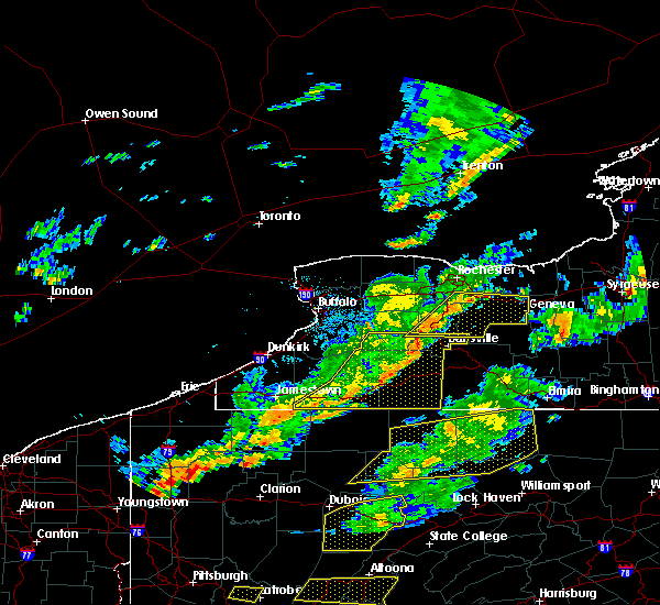 Radar Image for Severe Thunderstorms near Lima, NY at 8/22/2017 3:49 PM EDT