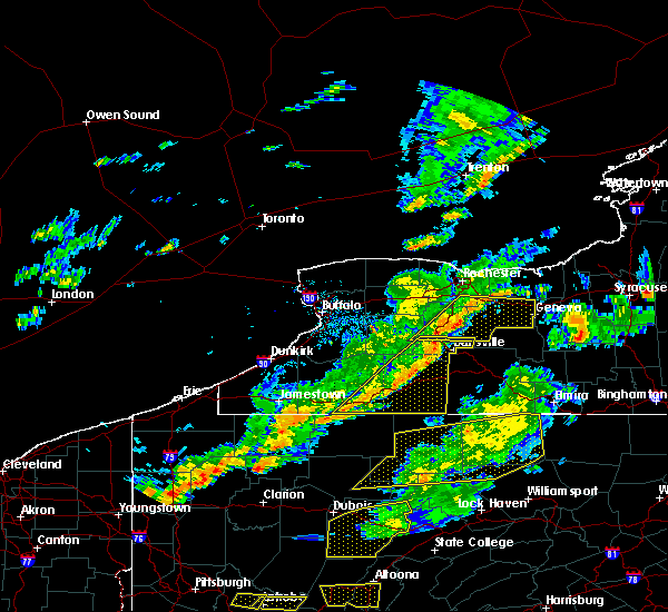Radar Image for Severe Thunderstorms near Belfast, NY at 8/22/2017 3:56 PM EDT