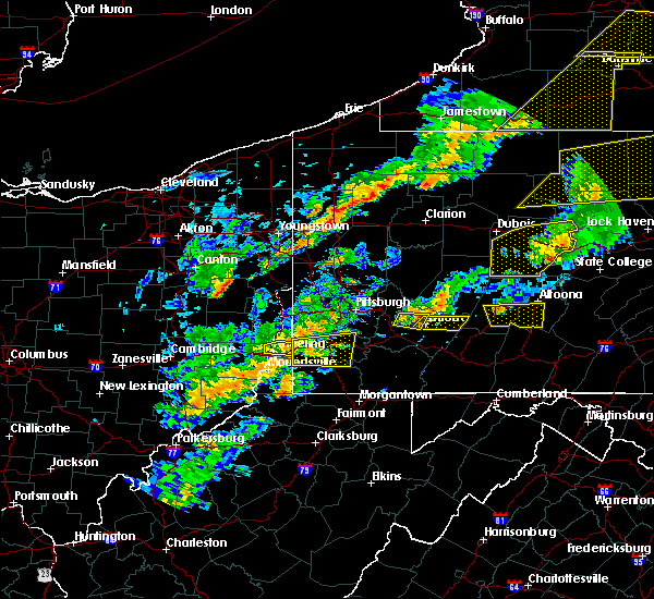 Radar Image for Severe Thunderstorms near Youngstown, PA at 8/22/2017 3:58 PM EDT