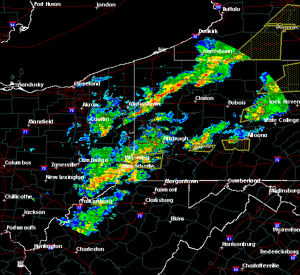 Radar Image for Severe Thunderstorms near Clarksville, PA at 8/22/2017 4:02 PM EDT