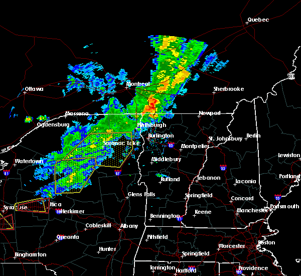 Radar Image for Severe Thunderstorms near Paul Smiths, NY at 8/22/2017 4:17 PM EDT
