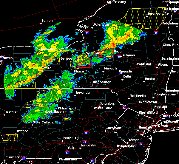 Radar Image for Severe Thunderstorms near Fabius, NY at 8/22/2017 4:17 PM EDT