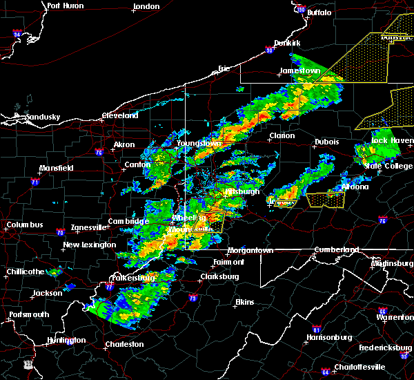 Radar Image for Severe Thunderstorms near Ellsworth, PA at 8/22/2017 4:17 PM EDT