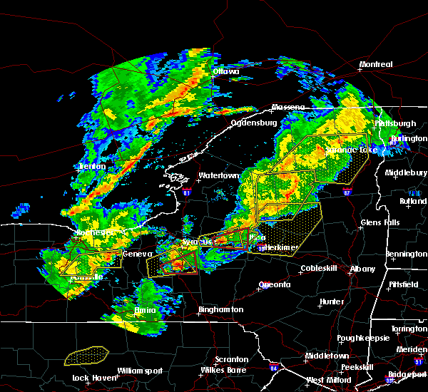 Radar Image for Severe Thunderstorms near Frankfort, NY at 8/22/2017 4:23 PM EDT