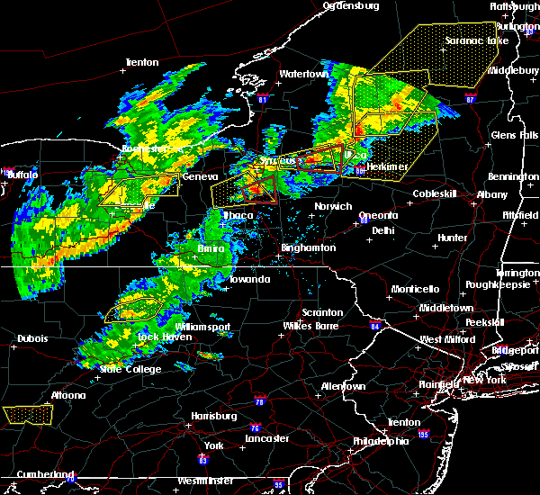 Radar Image for Severe Thunderstorms near Fabius, NY at 8/22/2017 4:26 PM EDT