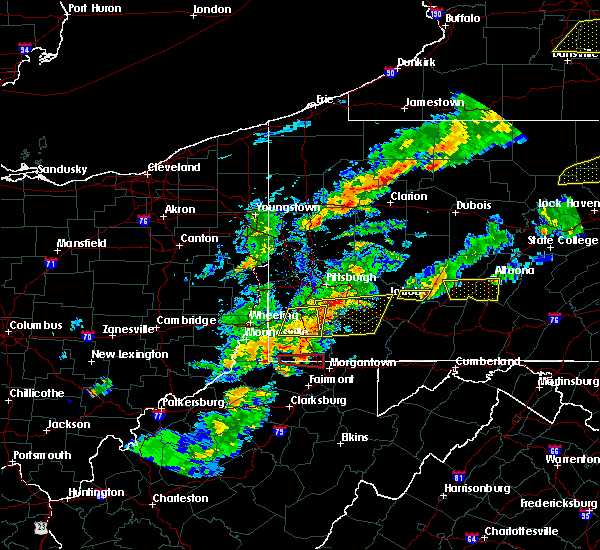 Radar Image for Severe Thunderstorms near Ellsworth, PA at 8/22/2017 4:30 PM EDT