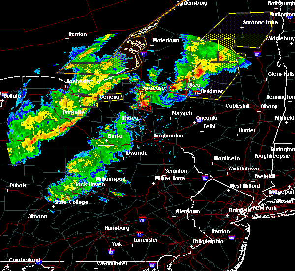 Radar Image for Severe Thunderstorms near Fabius, NY at 8/22/2017 4:33 PM EDT