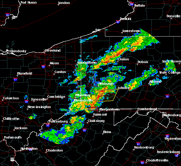 Radar Image for Severe Thunderstorms near Mount Morris, PA at 8/22/2017 4:34 PM EDT