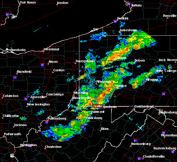 Radar Image for Severe Thunderstorms near Calumet, PA at 8/22/2017 4:52 PM EDT
