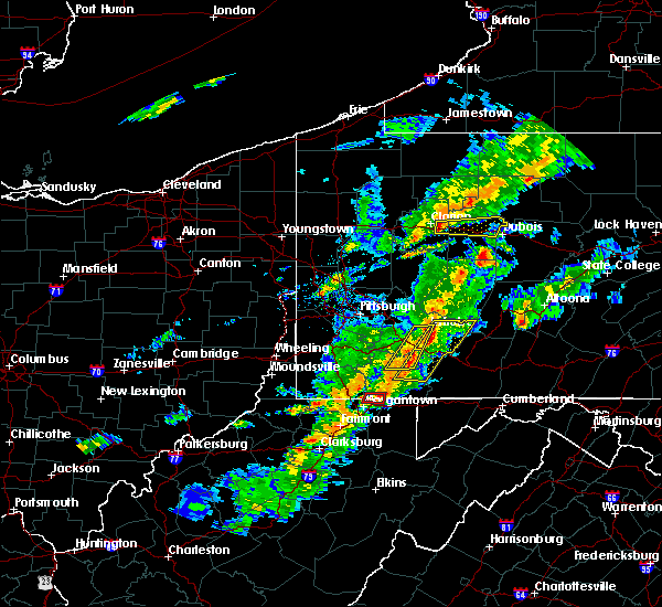 Radar Image for Severe Thunderstorms near Youngstown, PA at 8/22/2017 5:11 PM EDT