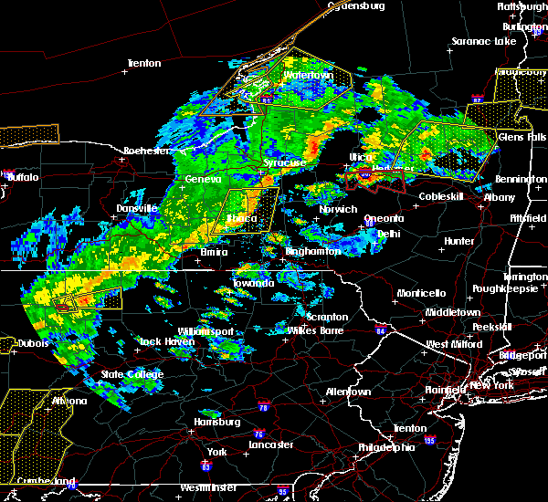 Radar Image for Severe Thunderstorms near Cortland West, NY at 8/22/2017 5:48 PM EDT
