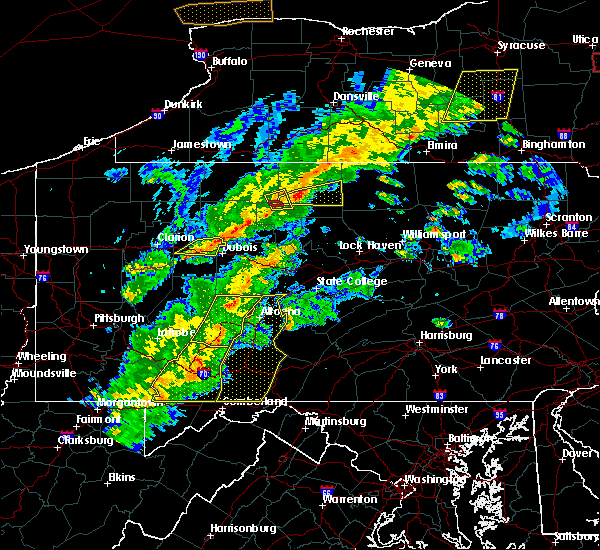 Radar Image for Severe Thunderstorms near Pleasantville, PA at 8/22/2017 5:51 PM EDT
