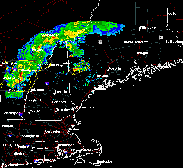 Radar Image for Severe Thunderstorms near Dixfield, ME at 8/22/2017 6:50 PM EDT