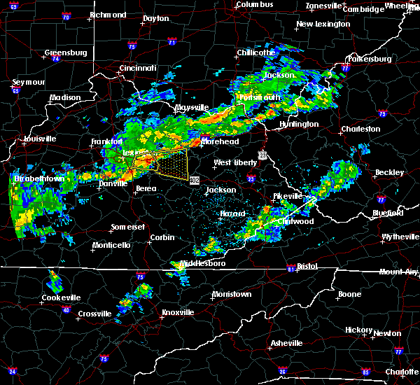 Radar Image for Severe Thunderstorms near Jeffersonville, KY at 8/22/2017 7:00 PM EDT