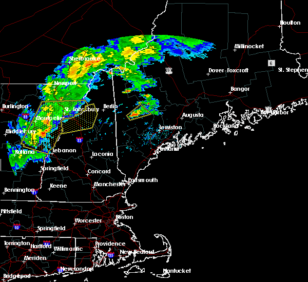 Radar Image for Severe Thunderstorms near Dixfield, ME at 8/22/2017 7:09 PM EDT