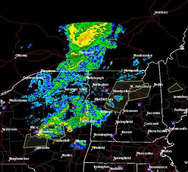 Radar Image for Severe Thunderstorms near Berlin, NH at 8/22/2017 7:09 PM EDT