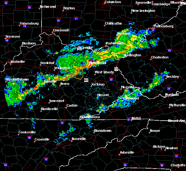 Radar Image for Severe Thunderstorms near Jeffersonville, KY at 8/22/2017 7:24 PM EDT