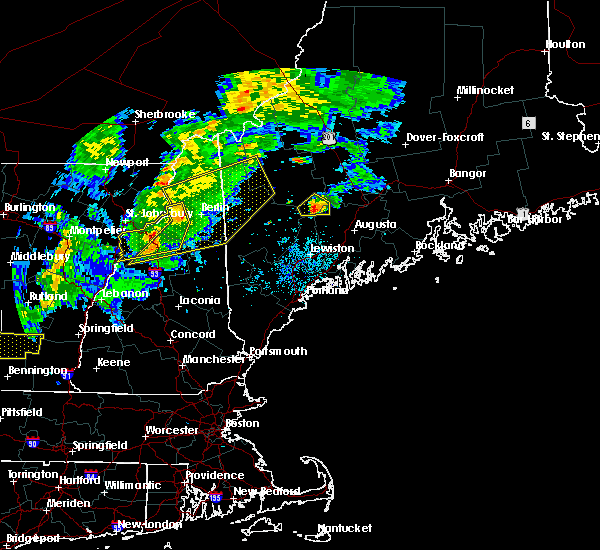 Radar Image for Severe Thunderstorms near Berlin, NH at 8/22/2017 8:01 PM EDT