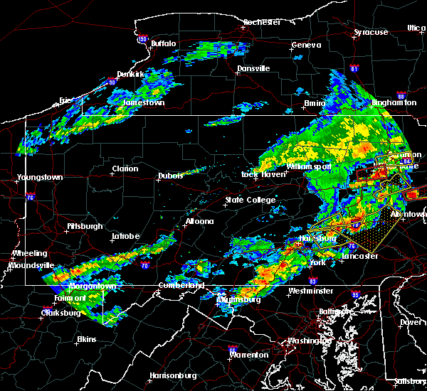 Radar Image for Severe Thunderstorms near Hershey, PA at 8/22/2017 8:24 PM EDT