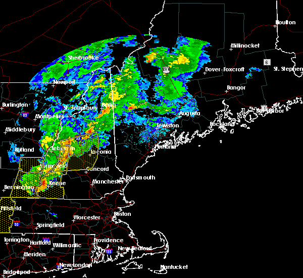 Radar Image for Severe Thunderstorms near Melvin Village, NH at 8/22/2017 9:57 PM EDT