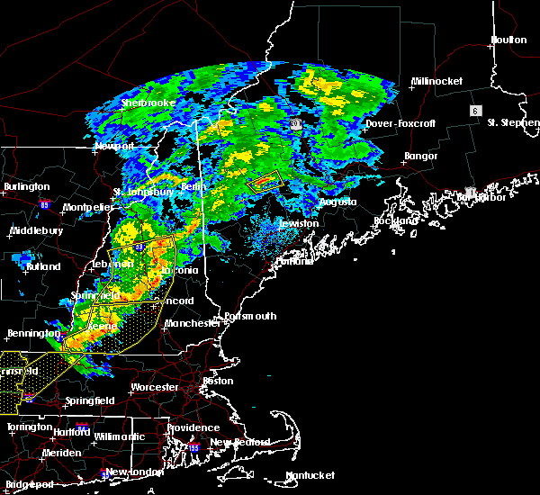 Radar Image for Severe Thunderstorms near Dixfield, ME at 8/22/2017 10:23 PM EDT