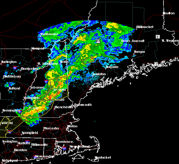 Radar Image for Severe Thunderstorms near Dixfield, ME at 8/22/2017 10:41 PM EDT