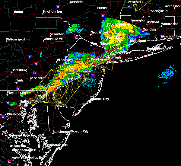 Radar Image for Severe Thunderstorms near Clayton, NJ at 8/22/2017 11:02 PM EDT